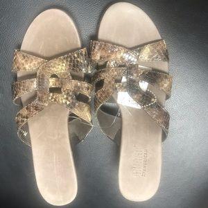 Munro America Snakeskin Sandals